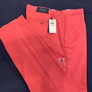 Polo Stretch Slim Fit Red Chinos